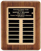 Walnut Frame Perpetual Plaque w/Gold Background